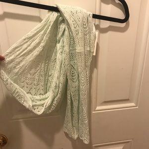 Mint green knit scarf